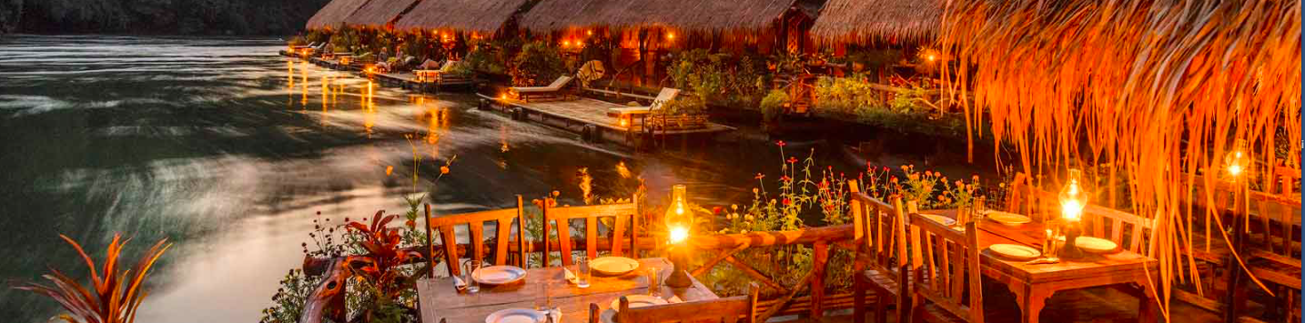 Il resort galleggiante nella giungla.